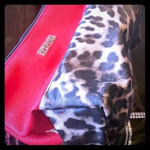 Kenneth Cole Red Leopard Cosmetic Bag